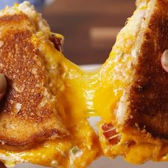 """1,365 Likes, 41 Comments - Delish (@delish) on Instagram: """"My grilled cheese is poppin' my grilled cheese is cool #Delish #DamnThatsDelish"""""""