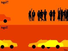 Paris VS New York ▼「金曜の夜の風景といえば」 パリ「待てど暮らせどタクシーは来ず」 ニューヨーク「街はタクシーだらけ」