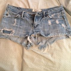 Light, Abercrombie & Fitch Jean shorts Light denim shorts Abercrombie & Fitch Shorts Jean Shorts