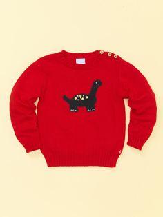 Intarsia Dinosaur Sweater by Bella Bliss on Gilt.com