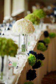 tissue paper pom pom wedding garland -pick yours by SimplyNesting Wedding Pom Poms, Garland Wedding, Wedding Centerpieces, Wedding Favors, Wedding Decorations, Wedding Ideas, Wedding Bouquets, Paper Flower Ball, Tissue Paper Flowers