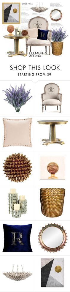 """""""Decorate With Studs"""" by hastypudding ❤ liked on Polyvore featuring interior, interiors, interior design, home, home decor, interior decorating, Madison Park, Harrods, Universal Lighting and Decor and Crystorama"""