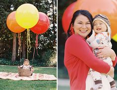 Hot Air Balloon Family Session by Caroline Tran // Inspired by This