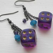Dice made out of dice | Dice earrings made out of dice from Comic-Con 2009