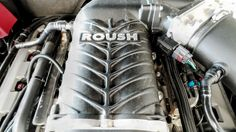 "Roush ""Black Widow"" Mustang engine power plant"