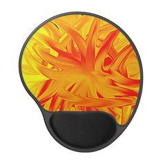Mousepad Flashy gelb rot abstrakt