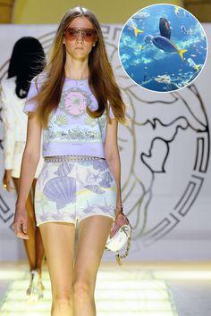 Very cute look!  (Versace)