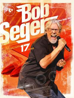 Bob Seger, Silver Bullet, Kid Rock, Concerts, February, Posters, My Love, Music, Illustration