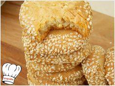 ΑΛΜΥΡΑ ΜΠΙΣΚΟΤΑ ΤΡΑΧΑΝΑ ΜΕ ΦΕΤΑ!!! Greek Recipes, Feta, Food And Drink, Bread, Breads, Baking, Sandwich Loaf