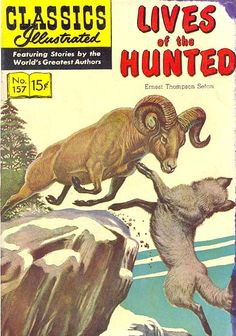 COMIC classics illustrated lives of the hunted #comic #cover #art