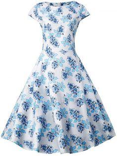 GET $50 NOW | Join RoseGal: Get YOUR $50 NOW!http://www.rosegal.com/vintage-dresses/floral-short-sleeve-knee-length-673001.html?seid=5505597rg673001