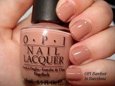 Barefoot In Barcelona - maybe I'll wear this while we're in Barcelona? But I definitely won't try going barefoot. :) Opi Barefoot In Barcelona, Going Barefoot, Health And Beauty, My Nails, Girly Things, Nail Polish, Just Girly Things, Polish, Manicures