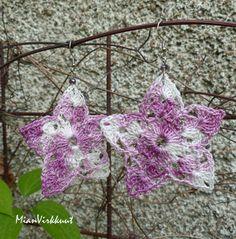 Crocheted Earrings by MianVirkkuut on Etsy