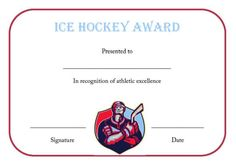 25 Best Hockey Certificate Templates Images Certificate Templates