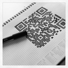 QR Code on Graph Paper