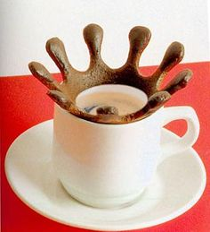 Coffee drop splash, by Radi designers