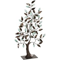Pier One Metal & Glass Tree of Life ($100) ❤ liked on Polyvore