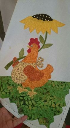Chickens and rooster Applique Templates, Applique Patterns, Applique Quilts, Applique Designs, Embroidery Applique, Quilt Patterns, Machine Embroidery, Nursery Patterns, Chicken Crafts