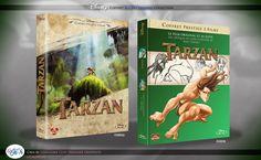 Concept de collection Blu Ray prestige Disney avec fourreau et Digibook : Tarzan & Tarzan 2 L'Enfance d'un Héros Tarzan, Disney Blu Ray, Walt Disney, Le Prestige, Animation Disney, Film, Designer, The Originals, Books