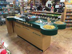 Custom Wood Dog Biscuit display from Handy Store Fixtures