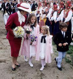 Queen Silvia and her children