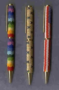 Beaded Pens by Linda Thompson-Mills -- Northern California