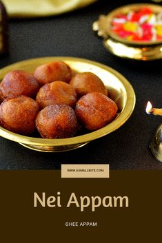Nei appam Recipe / Unniyappam Recipe is actually made from grinding rice with grated coconut, added jaggery and fried in ghee generously. Sundal Recipe, Appam Recipe, Nutritious Snacks, Healthy Snacks For Kids, Other Recipes, Sweet Recipes, Paniyaram Recipes, Navratri Recipes, Breakfast Recipes