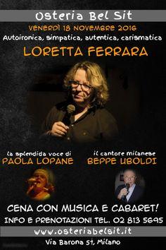 18 novembre 2016 Loretta Ferrara - Osteria Bel Sit - Google+