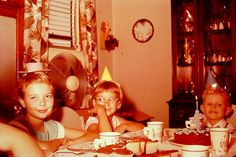 1957 vintage 1950s photo 35MM slide Kids Birthday Party by Christian Montone, via Flickr