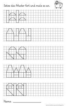 Lernstübchen: Muster fortsetzen (4)   School   Pinterest   Math ...