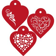 Contemporary Hearts Cookie Stencils