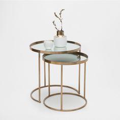 Runder, unterschiebbarer Tisch (2er-Set) - Schemel & Beistellmöbel - Dekoration | Zara Home Deutschland