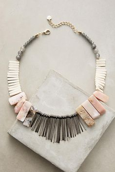 Anthropologie Stone Sunset Bib Necklace