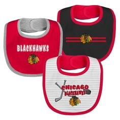 premium selection 23560 18079 Chicago Blackhawks Cutie Bib Pack – babyfans Nhl Chicago, Chicago Blackhawks,  Unisex Baby,