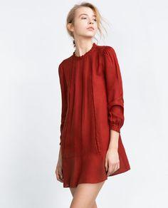 Discover the new ZARA collection online. Frilly Dresses, Short Dresses, Mode Zara, Zara Looks, Moda Formal, Vestidos Zara, Dress Outfits, Fashion Outfits, Fashion Forecasting