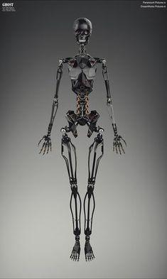 Ghost in the Shell - Skeleton by Vitaly Bulgarov Robot Humanoïde, Arte Robot, Cyberpunk Character, Cyberpunk Art, Robot Concept Art, Armor Concept, 3d Printed Robot, Gato Anime, Humanoid Robot