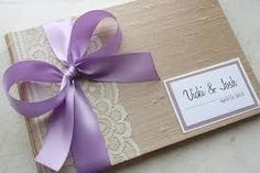 guest book with hint of purple