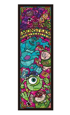 Disney 456 Stained Piece Monsters University Stained Glass Tightly by Tenyo Disney Mural, Disney Theme, Disney Love, Disney Art, Disney Stained Glass, Disney Frames, Disney Puzzles, Cute Disney Drawings, Pinturas Disney