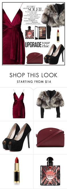 """""""Velvet Dress"""" by mahiiraa ❤ liked on Polyvore featuring Boohoo, Lolita Lempicka, WithChic, A.P.C., L'Oréal Paris and Yves Saint Laurent"""