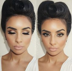 @makeupbydanii_ Foundation: @erabeautyusa Concealor: Mac select cover up Powder: Ben nye translucent Bronzer: @gorgeouscosmeticsofficial endless summer 02 Blush: Mac trace gold with peaches Eyes: @stilacosmetics soul palette Lips: Mac whirl with Mac Honey love Brows: @anastasiabeverlyhills Lashes: @lashesbylena in Bianca Hair by the amazing @styles_carlagabriela #makeupbydanii_ #latina #gerardcosmetics #bbBabe#anastasiabrows #anastasiabeverlyhills #hudabeauty#maccosmetics #vegas_nay