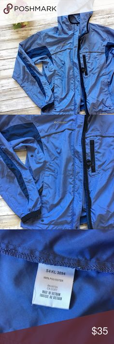 Columbia Blue Light Rain Jacket Perfect jacket for running or workout out from Columbia. Fits a size M. Excellent condition Columbia Jackets & Coats