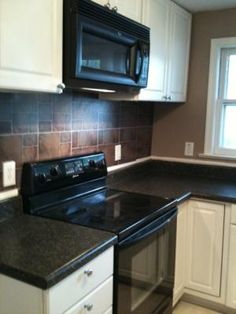 69 Each Cryntel 12 X Canyon Slate Finish Vinyl Tile Using It As A Backsplash Why Didn T I Think Of That