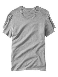 Short-sleeved crew (2-pack) - Soft knit cotton T shirts, perfect for layering underneath your favorite shirt or sweater.