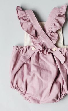 Blythe and Reese Handmade lavender sunsuit Baby Romper Baby Playsuit Girl Romper Girl Playsuit Girls Playsuit, Baby Girl Romper, Girls Rompers, Baby Dress, Baby Rompers, Baby Romper Pattern, Baby Outfits, Toddler Outfits, Kids Outfits