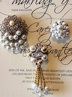 Such cute magnets made out of vintage jewelry. @Maryanna Bishop