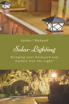 I cannot wait to have solar lighting in my backyard and garden! Enjoying the ambiance of solar lighting in the garden and backyard. #solar #lighting #backyard #garden #affiliate