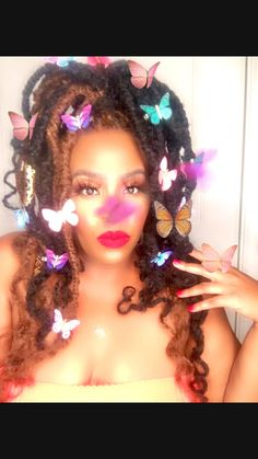 African Love, Indigo Children, Bull Horns, Goddess Braids, Fairy Wings, Faux Locs, Red Nails, Black Girl Magic, Hair Goals