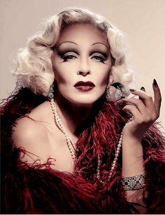 Kylie Minogue as Marlene Dietrich! Wow.