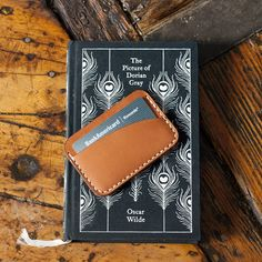 Image result for leather card holder 3 pocket