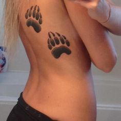 tattoos tattoos tattoos Side Tattoos, Body Art Tattoos, Print Tattoos, I Tattoo, Cool Tattoos, Tatoos, Ricks Tattoo, Bear Paw Tattoos, Bear Paw Print